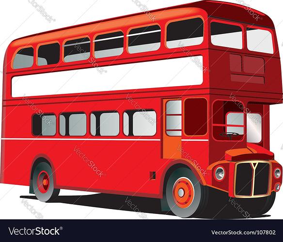 london-double-decker-bus-vector-107802