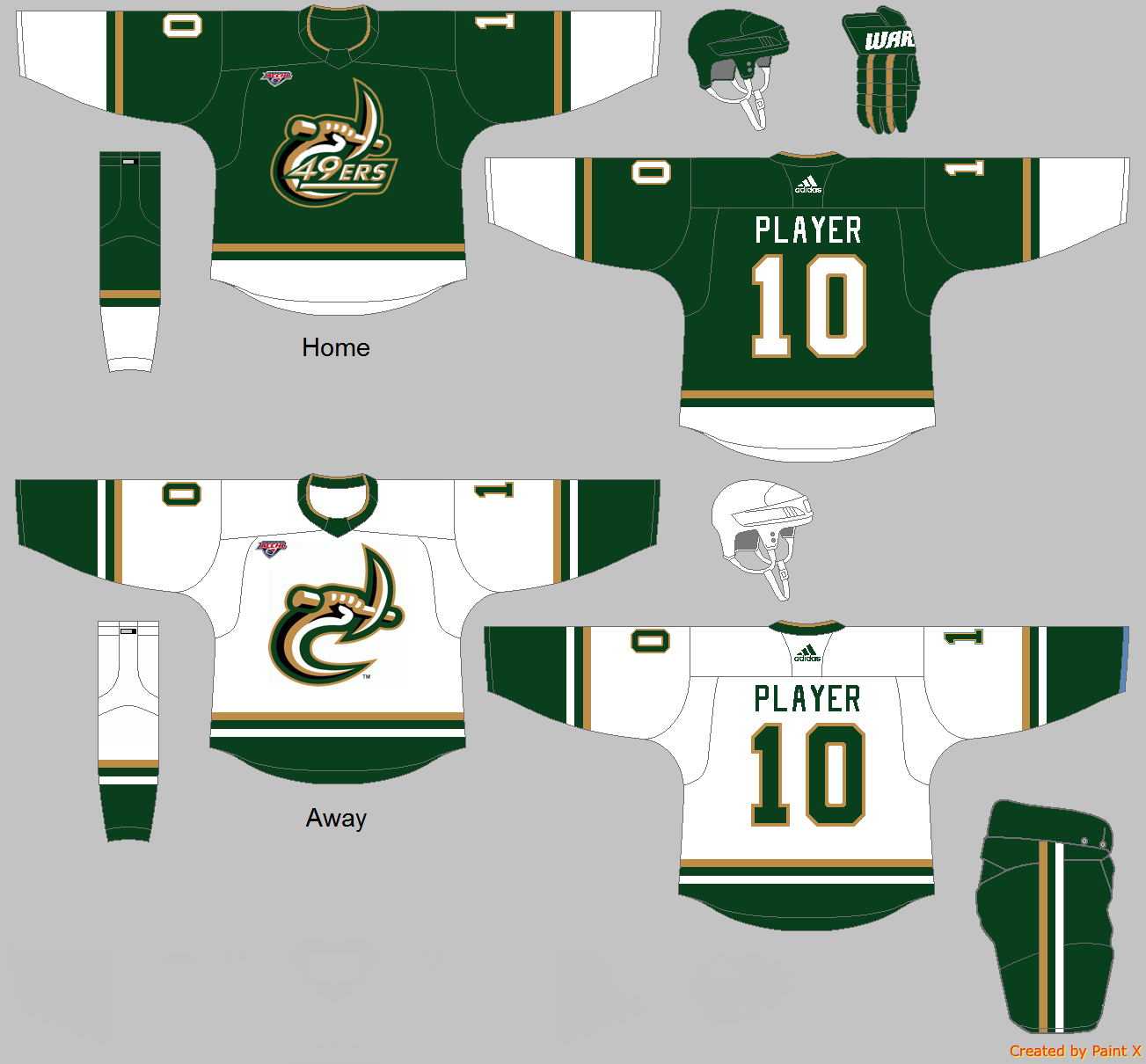 wholesale dealer f1718 e47dd Charlotte Hockey Uniform Concept - Other 49er Sports ...
